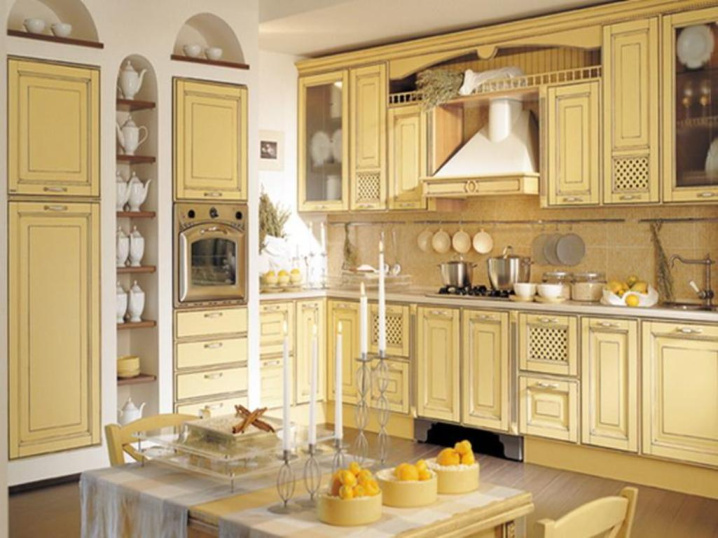 Cream cabinets kitchen